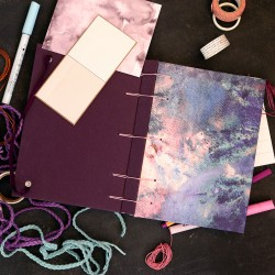 Carnet couture belge - tissu Cosmique
