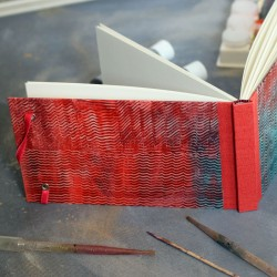 Carnet aquarelle: Papier à la colle rose
