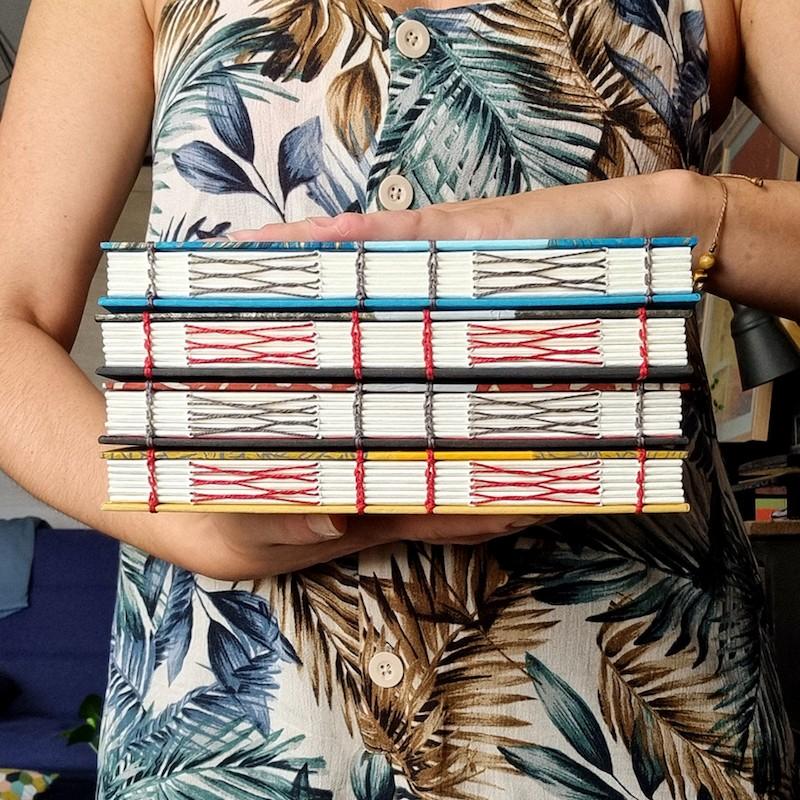 Carnet artisanal A5 papier Fabriano Artistico aquarelle