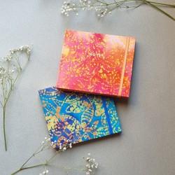 Carnet de notes artisanal carré avec tissu
