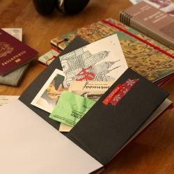 Carnet de voyage, mélange de papiers
