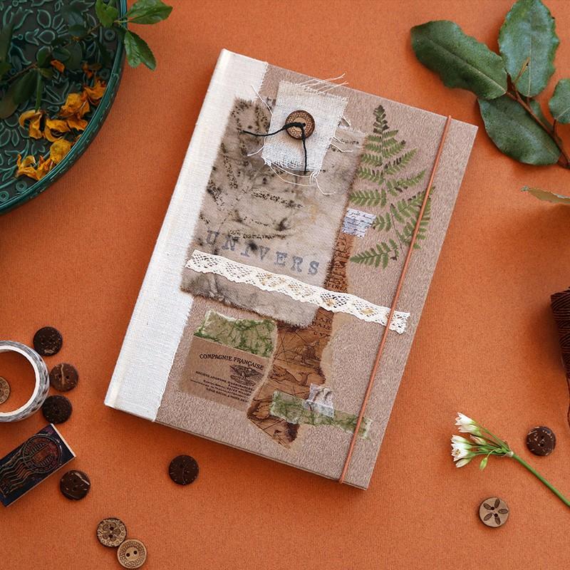 Carnet artisanal A5: livre d'artiste - mon univers - scrapbooking