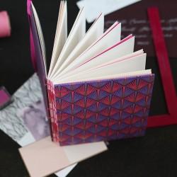Carnet de note A5 diamant rose