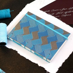 Carnet de note A5 diamant turquoise