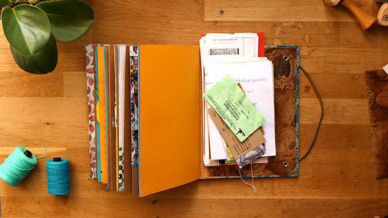 comment créer un carnet de voyage style scrapbooking 01