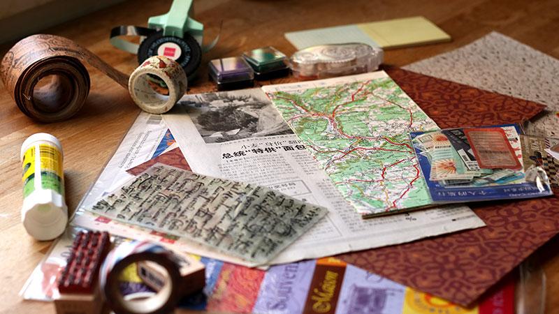 comment créer un carnet de voyage style scrapbooking 06